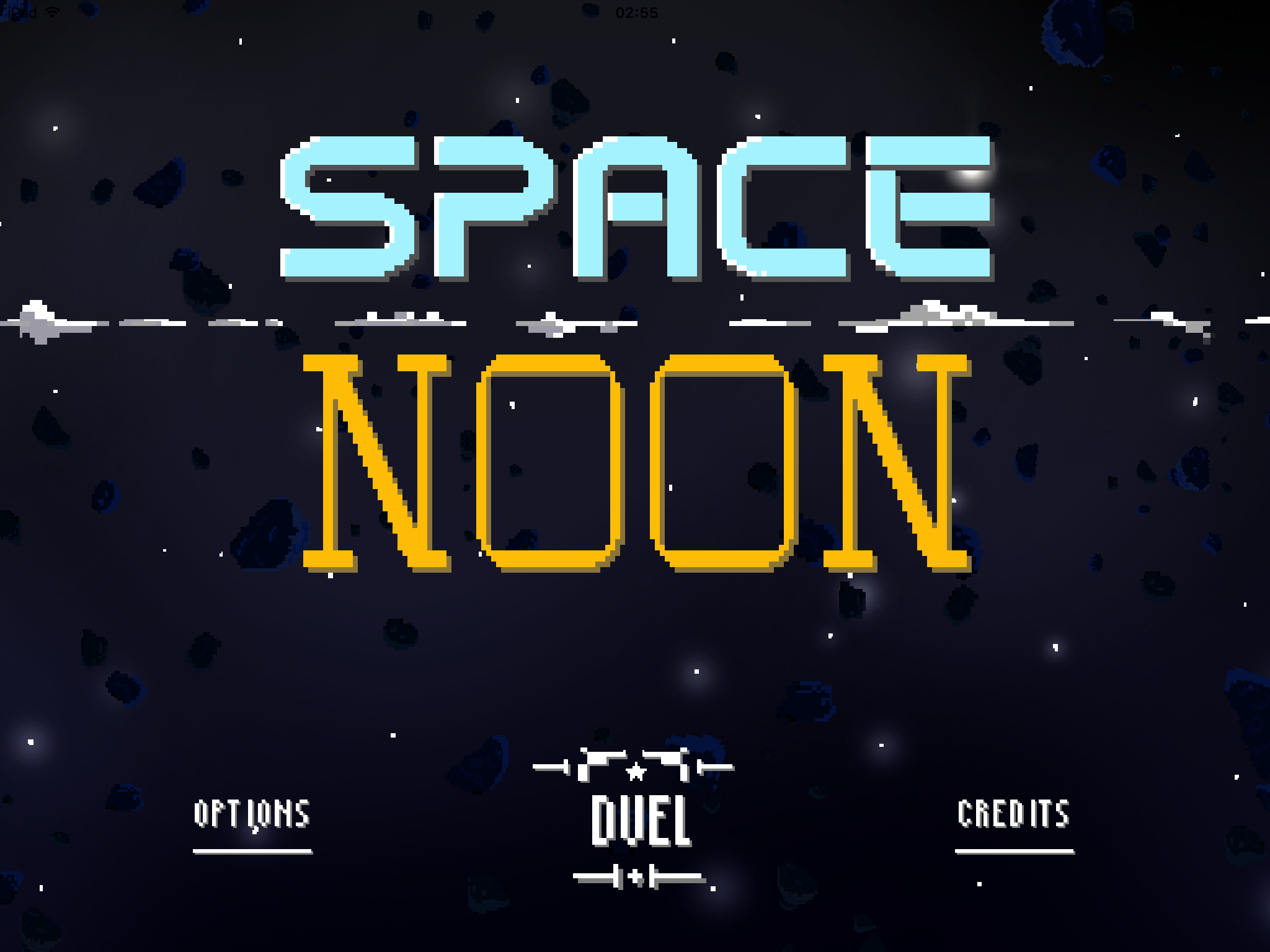 Space Noon, the game for space cowboys
