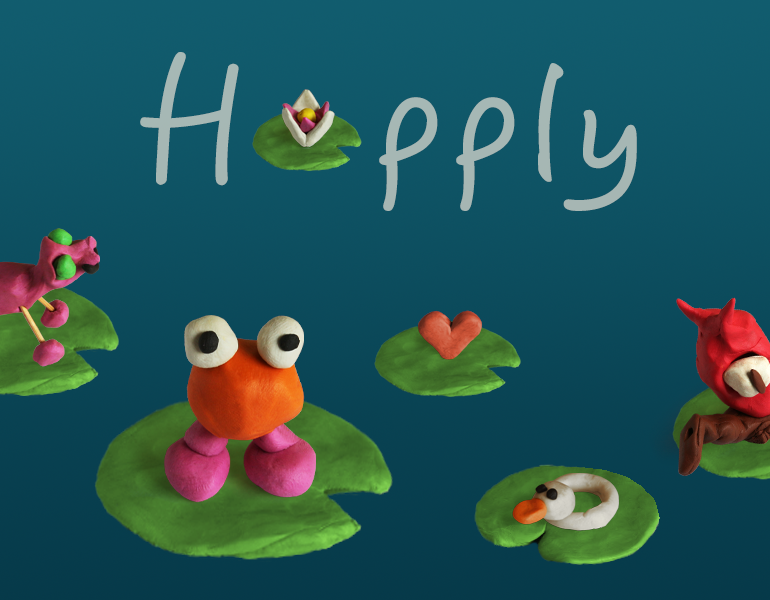 Hopply, crazy endless hopper with hand-made clay graphics.