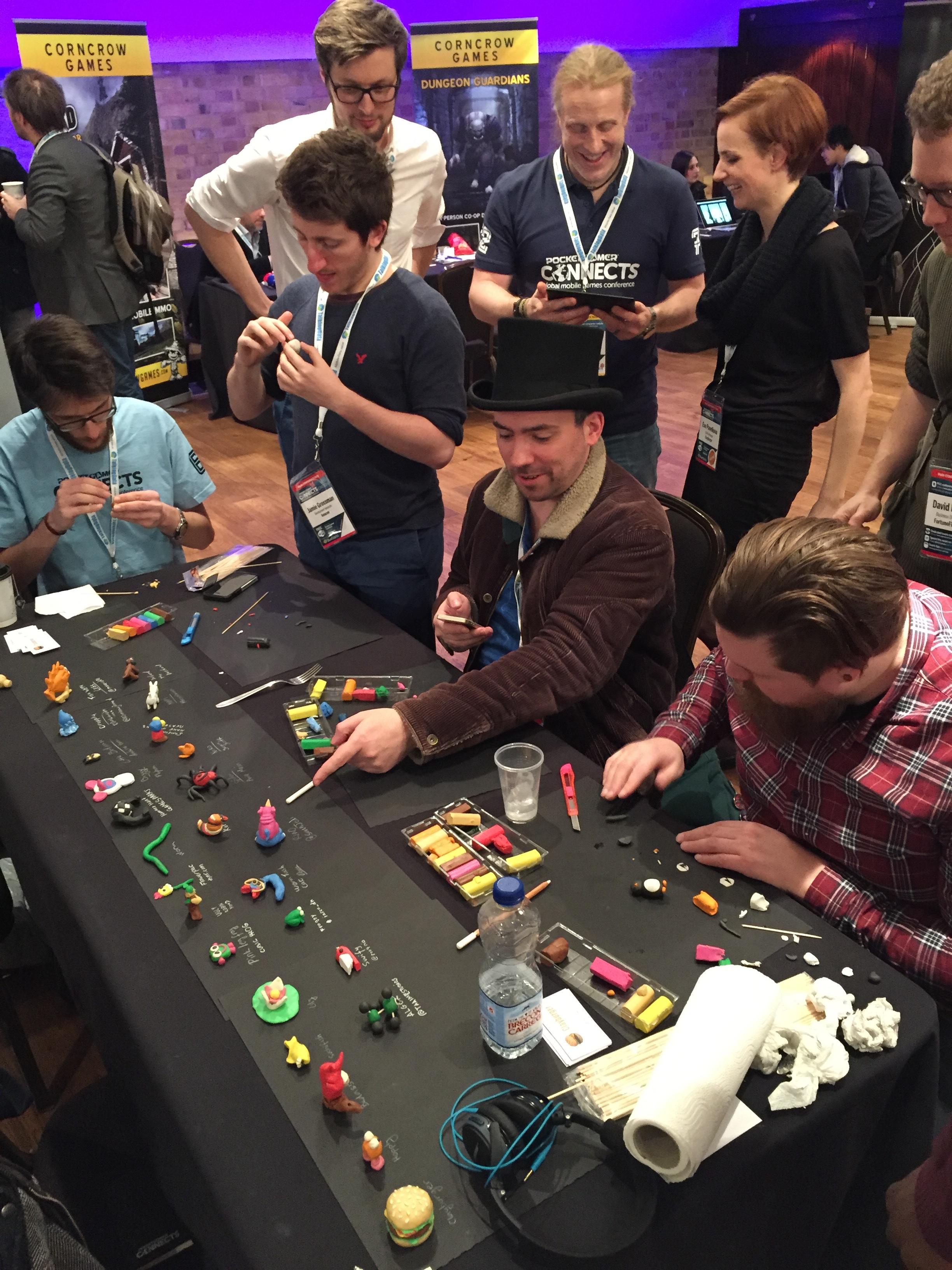 Clayburger crowded table @ PGC London 2016