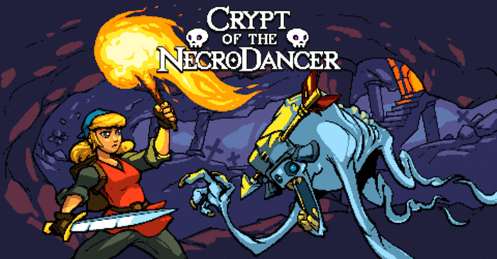 Crypt of the NecroDancer, a dungeon crawling rhythm game