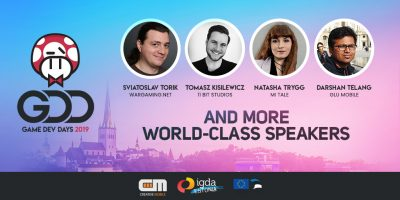 Attend GameDev Days conference in Tallinn on April 11-12th and Grab a 20% Off the Tickets